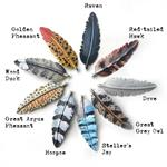 Hand Painted Feather Charms and Wing Pendants