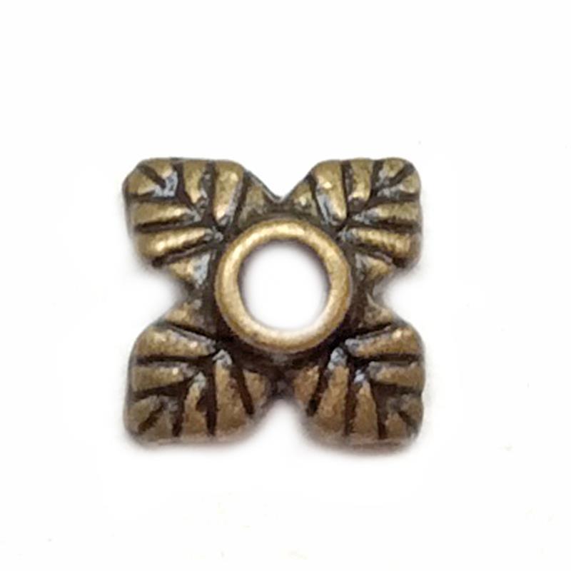 Antique Copper Plated Lead Free Alloy 10x4mm Flower Leaf Bead Caps Q60 per Pkg