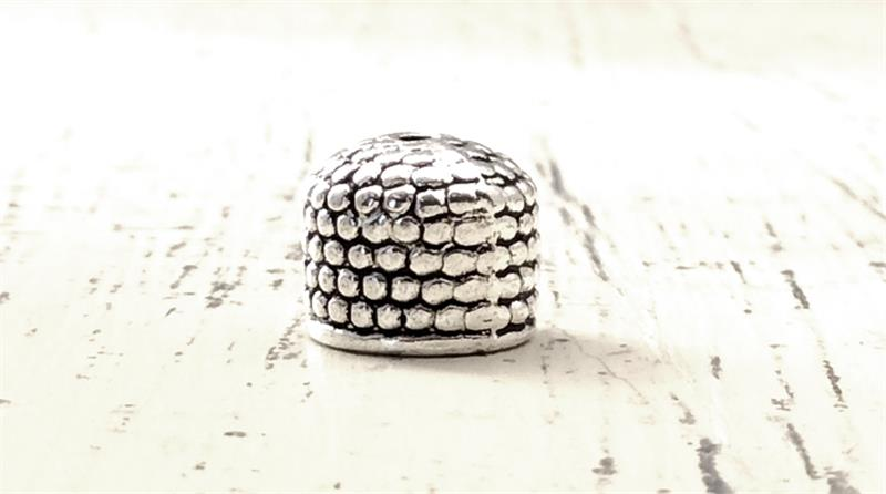 Beads Silver Bullet Bead Cap Beads 18mm