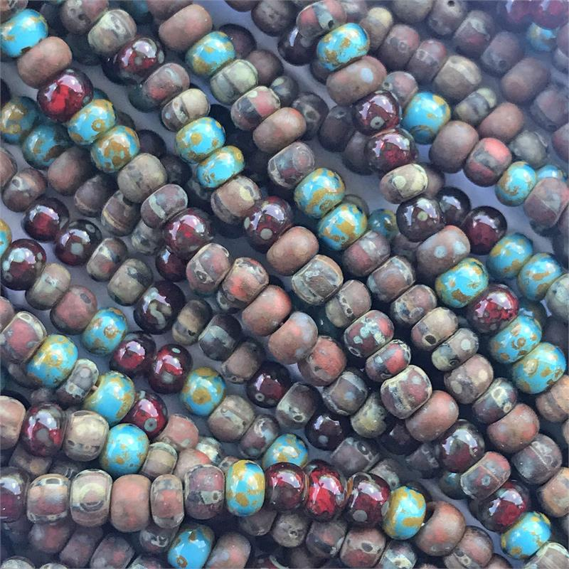 "Czech Glass Seed Beads Size 8//0 /"" GARNET /"" Strands"
