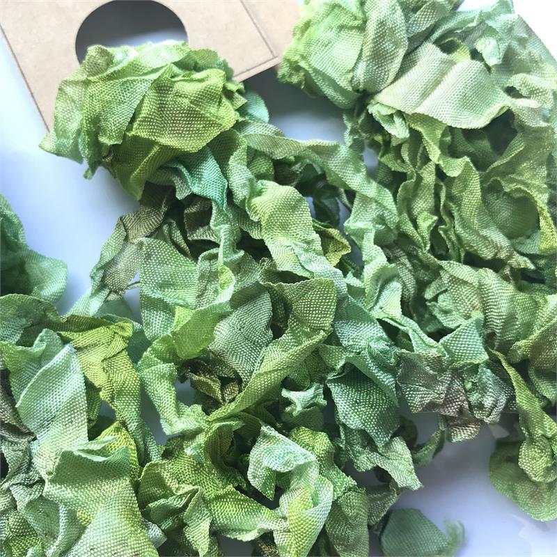 Green Gables Vintage Seam Binding Ribbon Ruffled 5 Yards
