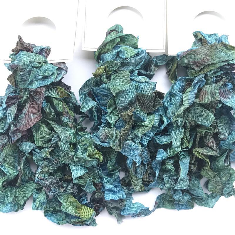 Mermaid Treasure Vintage Seam Binding Ribbon Ruffled 5