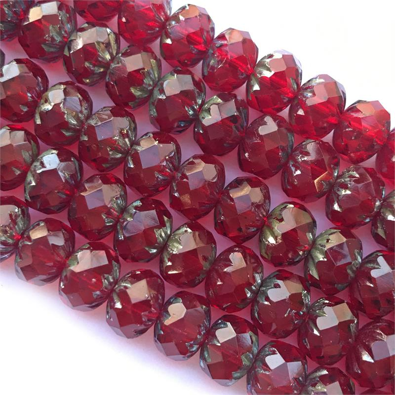 Pick the Color Strand of 25 x 9x6mm Czech Glass Cruller Beads