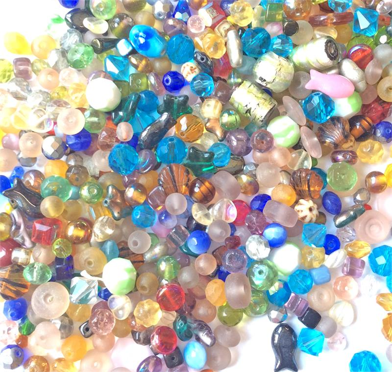 Seed Bead Mix Inexpensive Cheap Bead Stringing Yellow Orange Glass Bead Assorted Variety Craft Grab Bag Jewelry Making Destash