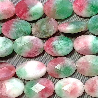 Candy Jade Lilac Faceted Oval 14x10mm Semi Precious Stone Beads Q1 Strand