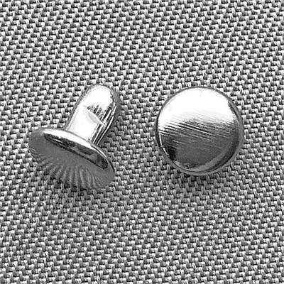 Round Snap Rivets 6mm Antique Silver Plated Q60 Sets Per Pkg