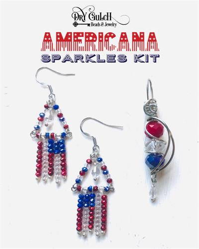 Americana Sparkles Earring Pendant Kit DIY Jewelry Making