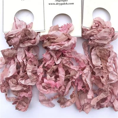 Angelique Pink Hand Dyed Seam Binding Ribbon