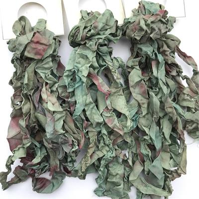 Thistle Hand Dyed Crinkled Ribbon