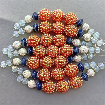 Freeia Pave Candy Bead Mix 16mm-4.5mm Per Strand