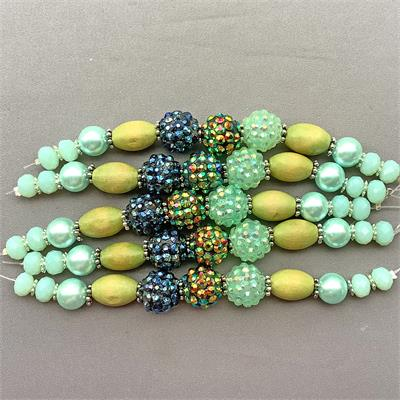 Aurora Pave Candy Bead Mix 13mm-4.5mm Per Strand