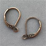 Leverback Earrings Earwires 16x10mm Antique Copper Plated Q15 Pair per Pkg