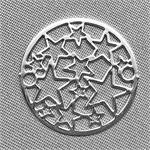 Stars Circle Antique Silver Plated Filigrees