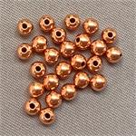 Round Ball Solid Copper 3mm Beads