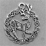 Reindeer Charms 30x26mm Antique Silver Plated Q6 per Pkg