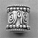 Large Hole Bali Style Tube Beads Antique Silver Plated 14x13mm Q8 per Pkg