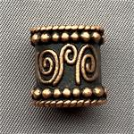 Large Hole Bali Style Tube Beads Antique Copper Plated 14x13mm Q6 per Pkg