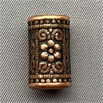 Bali Style Flower Tube Beads Antique Copper Plated 17x10mm Q10 per Pkg