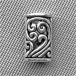 Tibetan Style Flourish Tube Beads Antique Silver Plated 8.5x5mm Q100 per Pkg