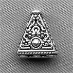 Tibetan Style 3 to 1 Strand Triangle Connector Beads Antique Silver Plated 16.5x15mm Q6 per Pkg