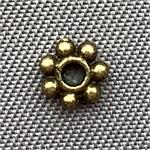Daisy Spacer Beads 4.5mm Antique Brass Plated Q300 per Pkg