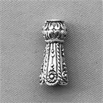 Tibetan Style Large Hole Cone Beads Antique Silver Plated 17x7mm Q8 per Pkg