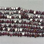 Garnet Diamond Semi Precious Stone Beads