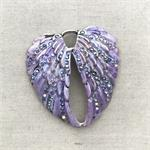 Lilac Purple Swarovski Wings Pendant