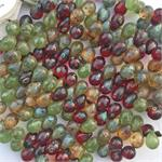 Transparent Red Peridot Green Apple Picasso Mix Drops