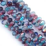 Rainbow Celestial Czech Drop Beads