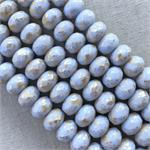 Pale Periwinkle Goldwash Czech Beads
