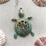 Artisan Patina Sea Turtle Pendant