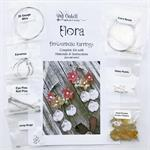 Flower Hoop Earrings DIY Kit Instructions