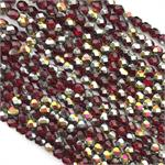 Siam Capri Gold Fire Polish 6mm Czech Beads