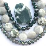 Green Colorway Kit Tree Moss Agate Peace Jade DIY Jewelry Kit
