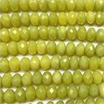 Lemon Jade 10x6mm Faceted Rondelle