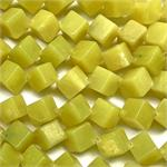 Lemon Jade 12mm Diagonal Cube