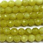 Lemon Jade 6mm Faceted Round Ball