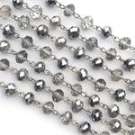 Silver Diamond Crystal Rosary Chain