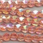 Rosaline AB 10mm Heart Electroplated Glass Beads Per Strand