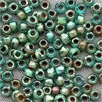 Transparent Olivine Picasso Size 8/0 Round Japanese Miyuki Glass Seed Beads per Tube