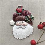 Kris Kringle Santa Claus Pendant Handmade Woodland Folk Santa
