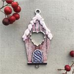 Sugarplum Birdhouse Pendant