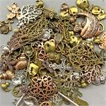 Destash Sale Plated Mixed Charms and Pendants Mixed Sizes Mixed Colors Over 7oz Lot Per Pkg