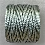 S-Lon Beading Cord Grey Heavy TEX400 .9mm Nylon Thread per Spool