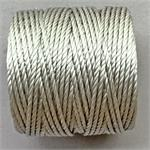 S-Lon Beading Cord Silver Heavy TEX400 .9mm Nylon Thread per Spool