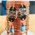 Winding Road Earring Project DIY Turquoise Copper