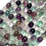 Fluorite Semi Precious Stone Beads Barrel Shaped