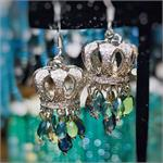 Queenly Crown Chandelier Earrings DIY Jewelry Making Mini Kit