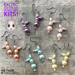 Exotic Bunny Earrings Mini Kit Pearl DIY Jewelry Making Kit